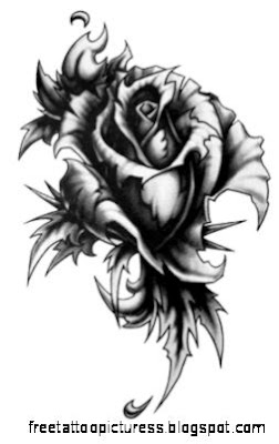 Gothic Rose Tattoo  South of Sweet   GRAPHICS  Pinterest