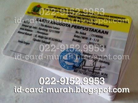 cetak Kartu Anggota Perpustakaan bandung id-card-murah.blogspot.com