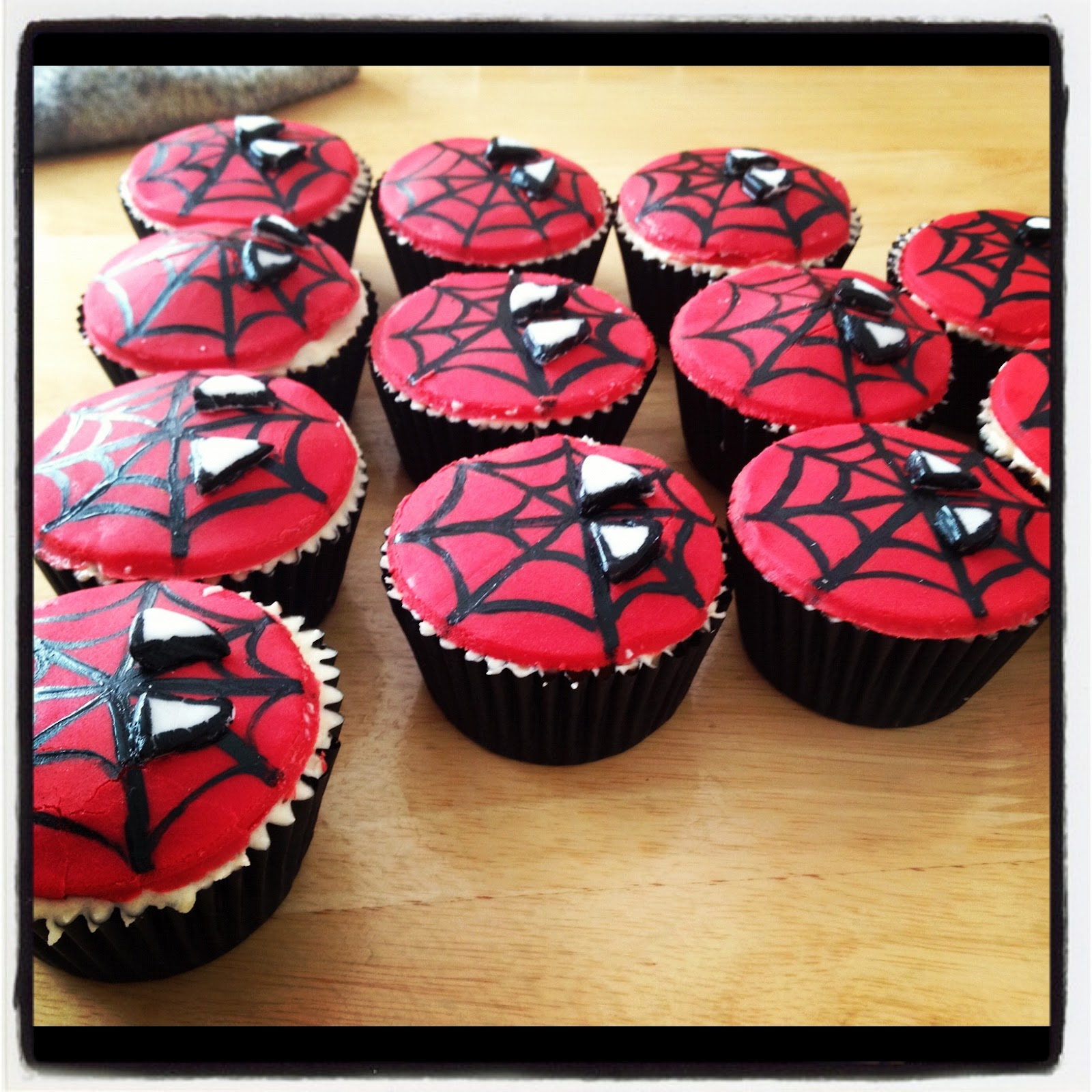 The Sweet Life Spiderman Cupcakes