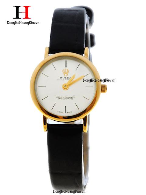 Đồng hồ rolex nữ dây da giá rẻ