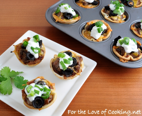 ... : Mini Steak and Bean Taco Cups - WTF and WOW Recipe Wednesday