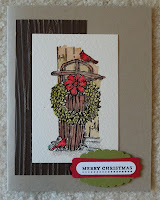 card made with Stampin Up stamp set: Winter Memories