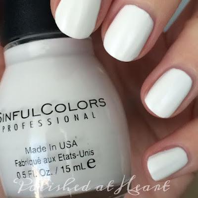 matte white polish