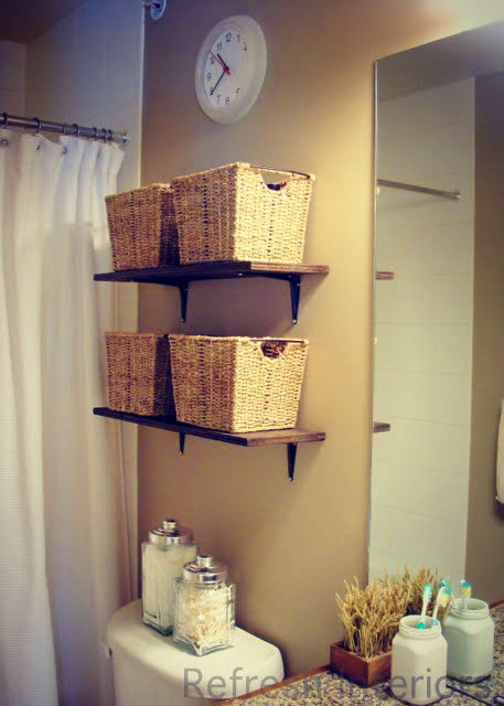 Bathroom Shelf above Toilet Storage