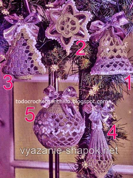 Adornos de navidad al crochet