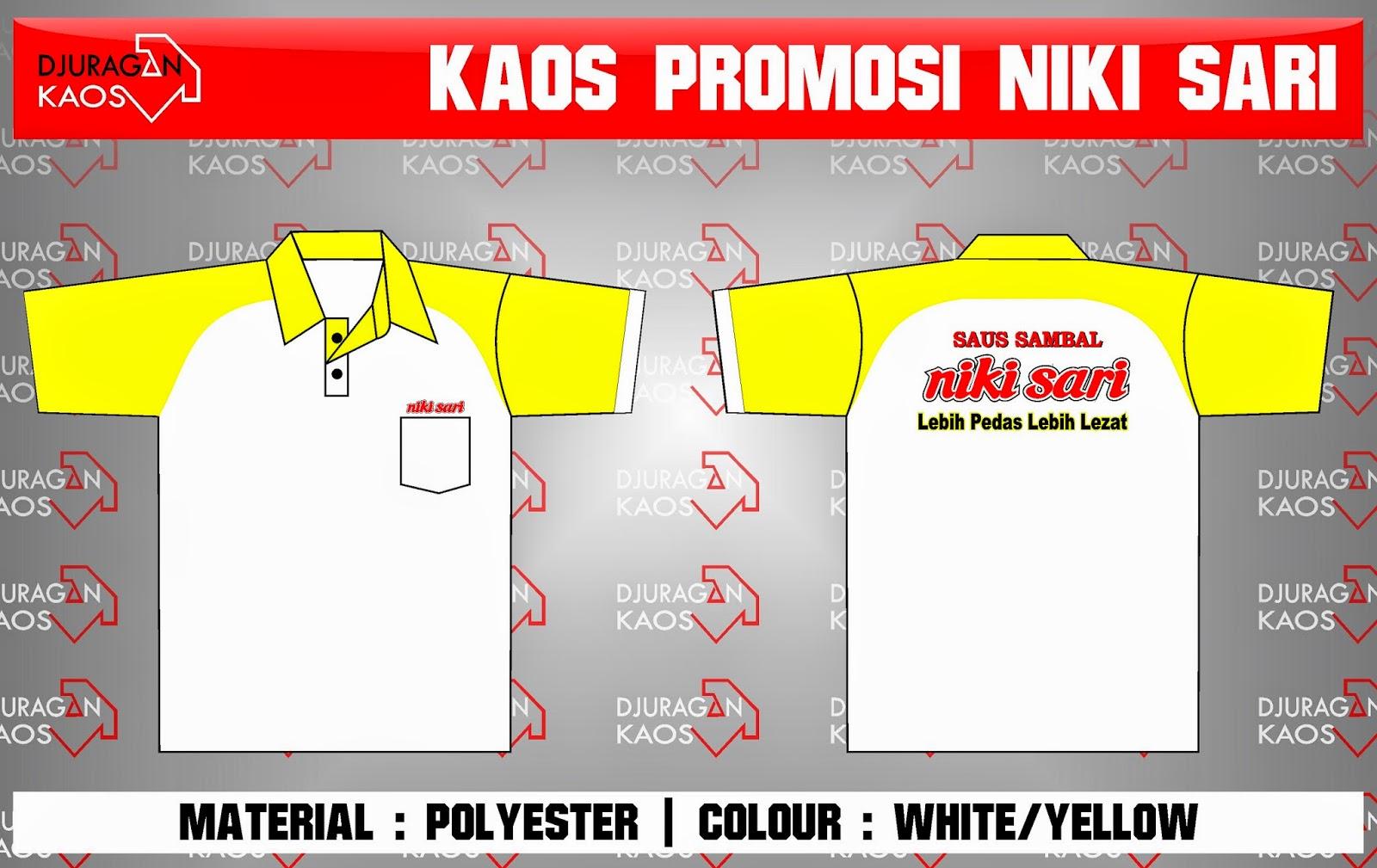 Accecories Design Kaos Promosi Saus Sambal Niki Sari