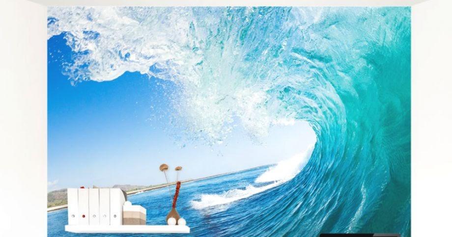 ocean wave wall murals wallpaper free best hd wallpapers deep blue wave wall mural 187 gadget flow