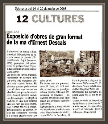 EXPOSICIONES-PINTURA-IGUALADA-PREMIO-GASPAR CAMPS-ERNEST DESCALS-