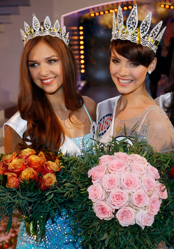Ceska Miss Czech Republic 2013 winners Gabriela Kratochvilova and Lucia Kovandova