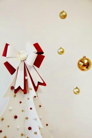 DIY, Lazo de Navidad con Cartulina