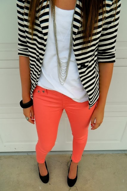 Pigment jegging,resort tee and striped life jacket