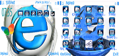 theme full icon internet exploler