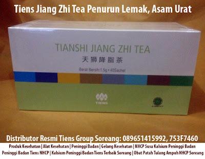 Tiens Jiang Zhi Tea Penurun Lemak, Asam Urat