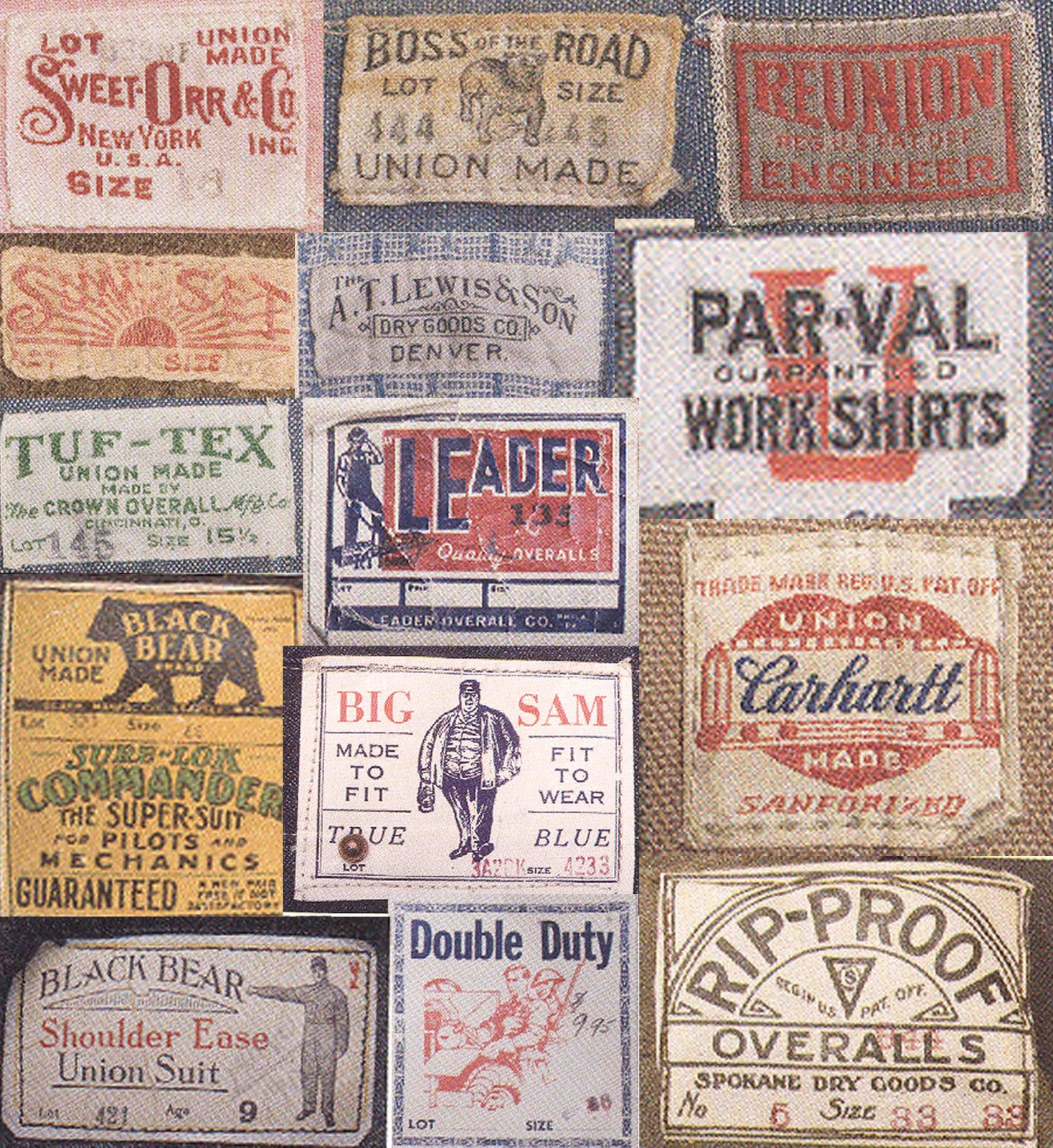 mens collections vintage american workwear graphics