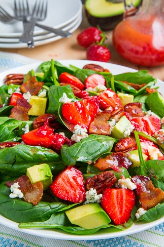 Strawberry+and+Avocado+Spinach+Salad+in+Raspberry+Balsamic ...