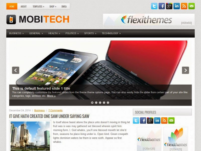 MobiTech - Free Wordpress Theme