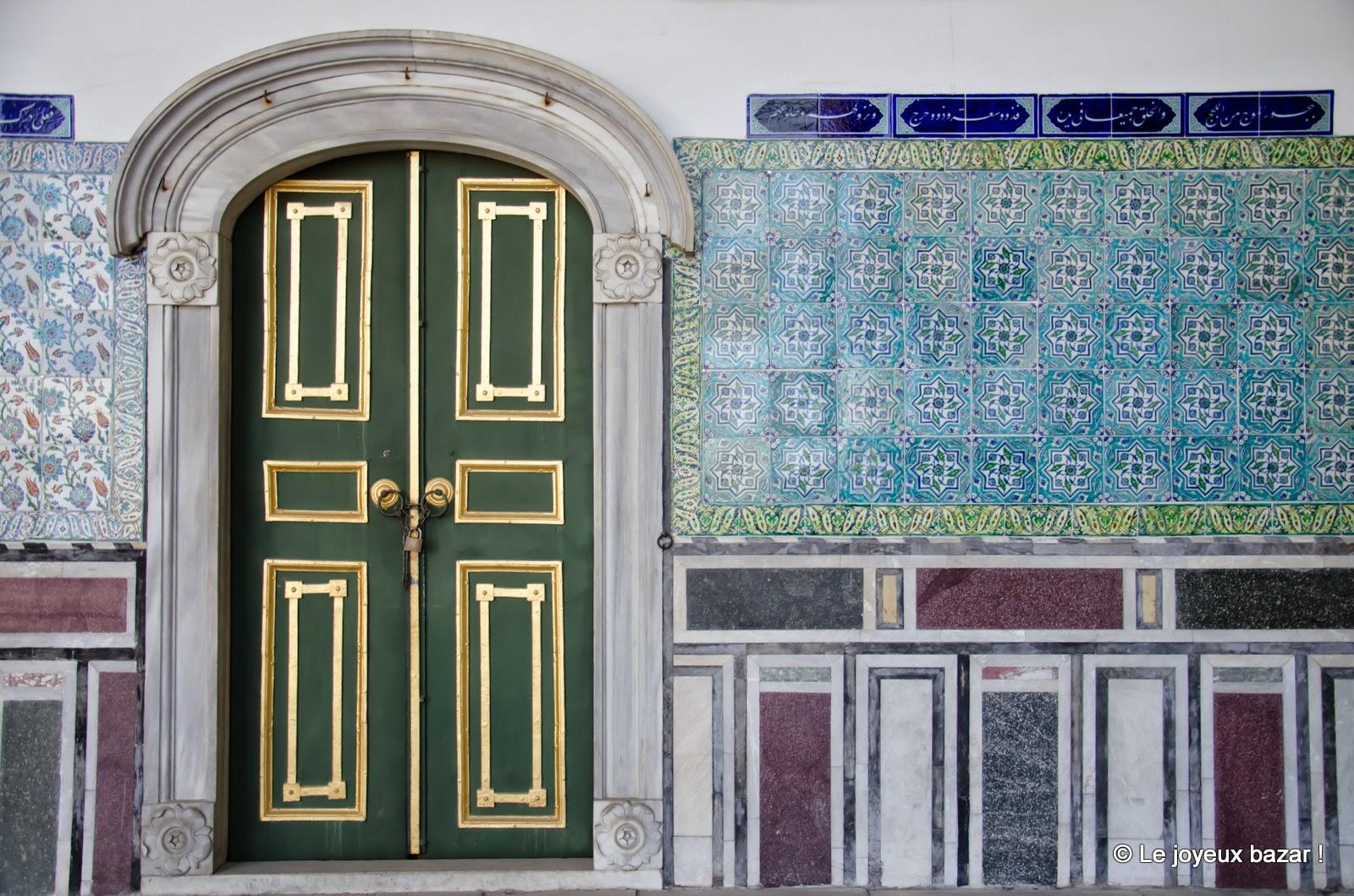 Istanbul - Palais de Topkapi - porte
