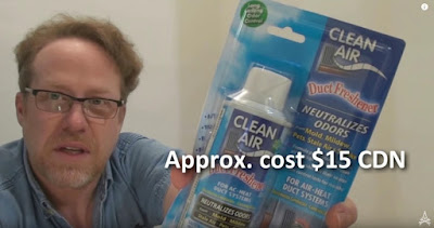 Clean Air approximate cost $15 CAD