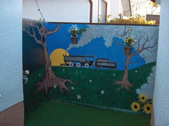 Back Yard Patio Mural
