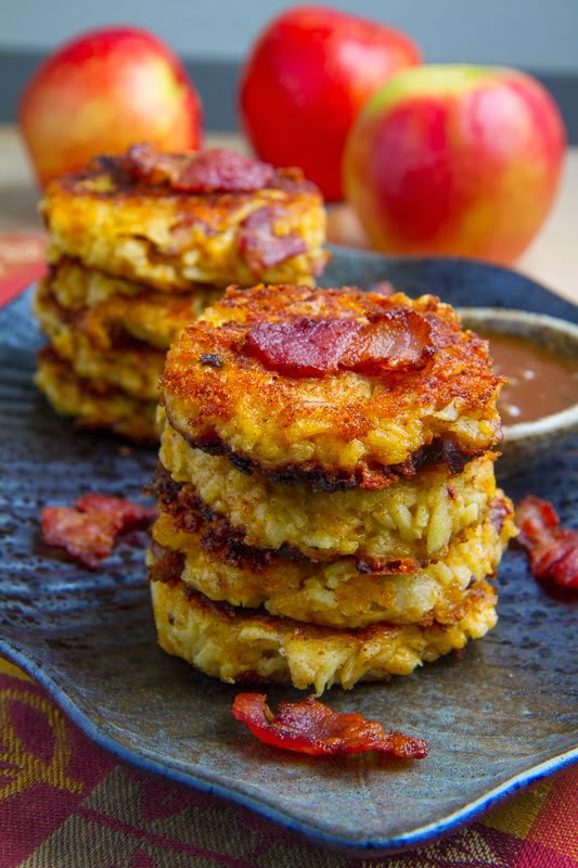 Apple, Cheddar & Bacon Fritters