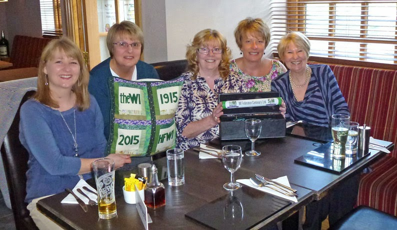 Wrawby WI with the Women's Institute Centenary Baton in May 2014 - picture on Nigel Fisher's Brigg Blog