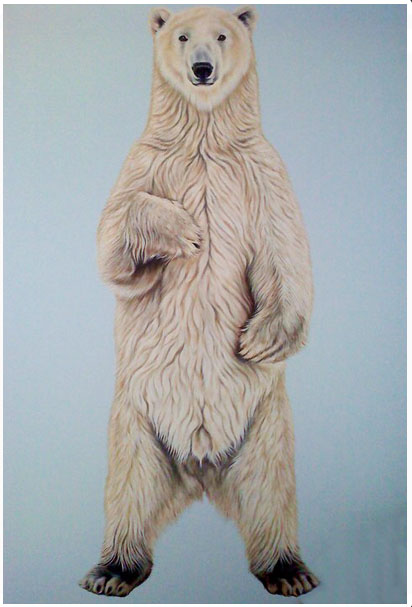 Scott Zaragoza, polar bear painting