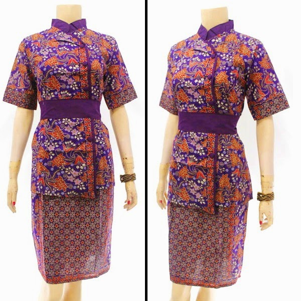 DB3809 Model Baju Dress Batik Modern Terbaru 2014
