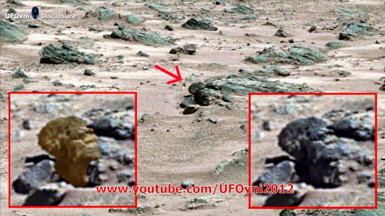 Ancient Aliens sur Mars: la tête ancienne capturée par Curiosity NASA