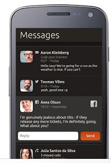 Mensajes Ubuntu para móviles, interface mensajes ubuntu phone