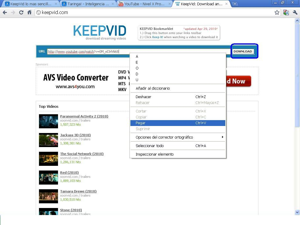 descargar videos de youtube en hd gratis sin programas