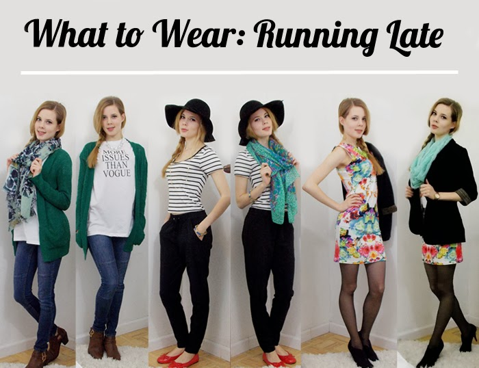 3 quick outfits when you are running late