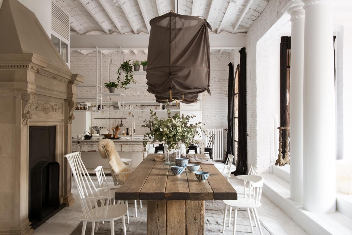 Archi Mattoni Vista In Cucina. Elegant Cucina E Soggiorno Ad Arco ...