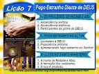 Slides da Lição 7, Fogo Estranho Diante de DEUS, 3Tr18, Pr. Henrique, EBD NA TV