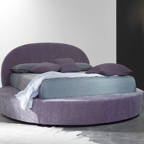 In design magz round purple bed furniture for modern for Round bed design images