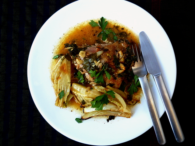 hungry tummies: Baked Chicken With Mustard, Parsley And Fennel