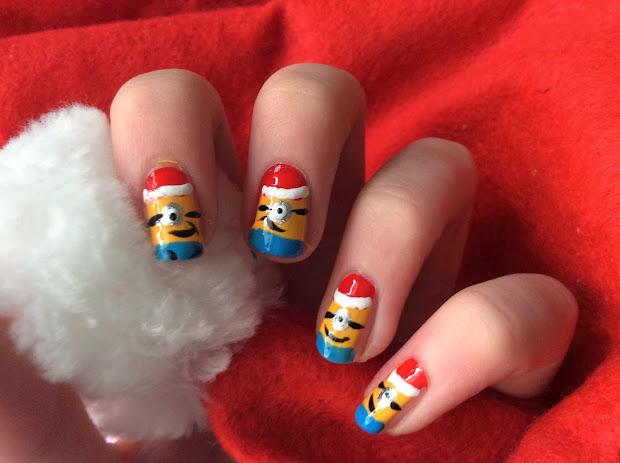 glossiequeen nail art christmas