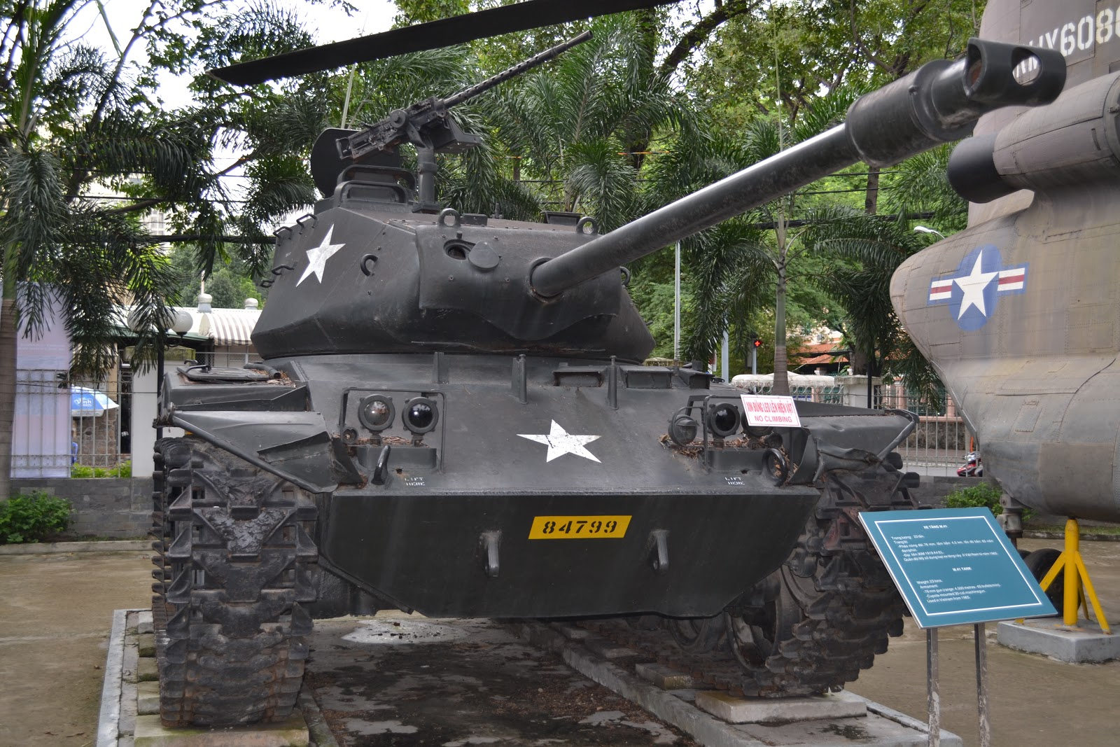 Tank displayed infront of War Remnants Museum