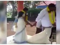 Memalukan, Sarung Pengantin Pria Melorot Saat Pernikahan