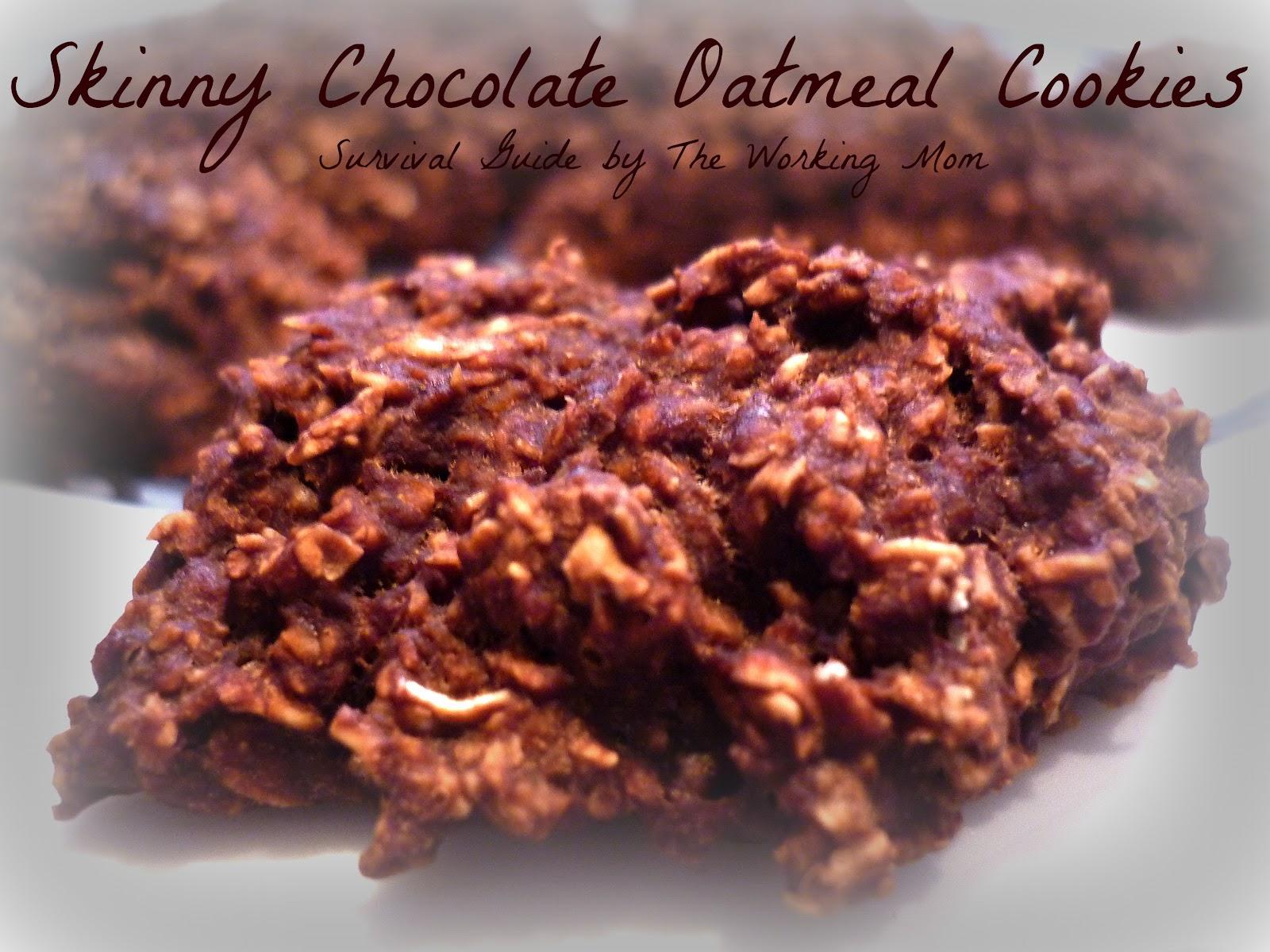 Skinny Chocolate Oatmeal Cookies Recipe