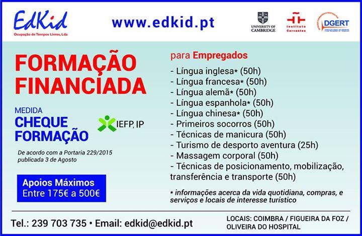 Formação Financiada: Medida Cheque-Formação – Coimbra, Figueira da Foz e Oliv. do Hospital