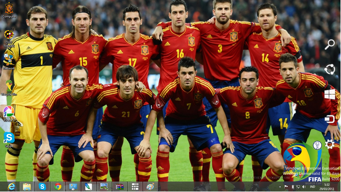 National Football Team Fifa World Cup 2014 Theme For Windows 7 And 8