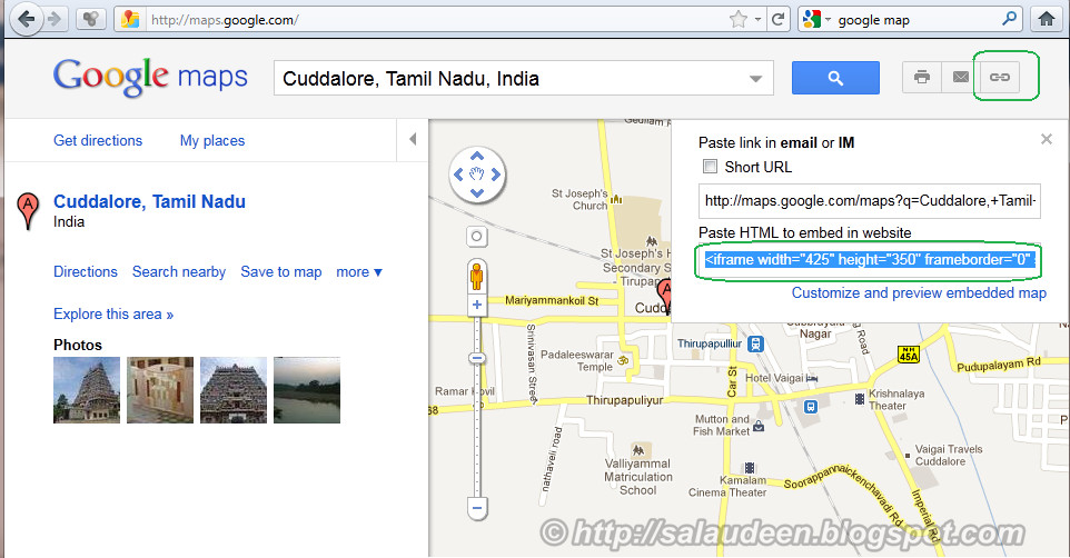 display google map sharepoint