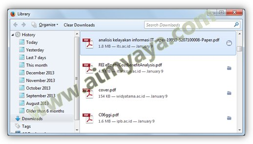 Gambar: Contoh Hasil download di mozilla firefox