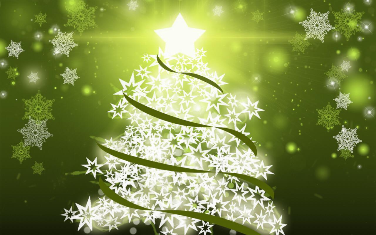 Irbob sevenfold christmas tree snowflakes wallpaper