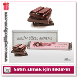 Anneye Özel Ahşap Kutulu Dev Çikolata