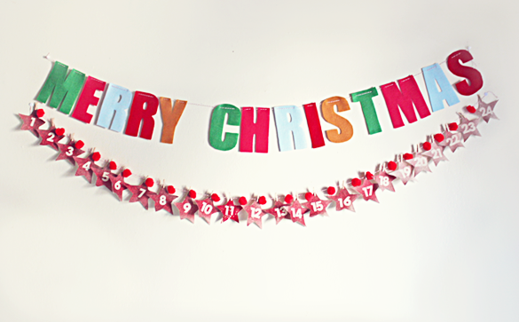 christmas countdown banner DIY
