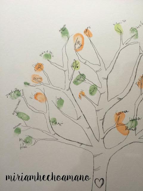 árbol huellas boda