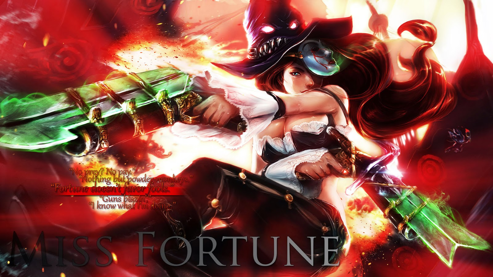 miss fortune league of legends wallpaper miss fortune