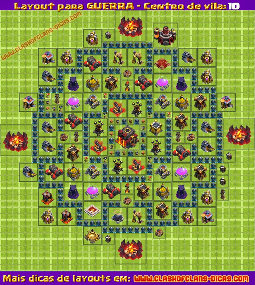 de vila clash of clans cv cv10 dicas guerra de clans imagens layout cv