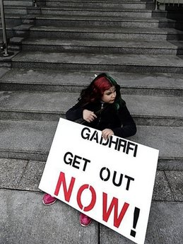 THE MESSAGE COULD NOT MORE CLEARER, GADDAFI OUT NOW!